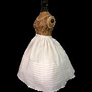 Stunning c.1880 China or Fashion Lady Half Slip With Flouncing Ruffle!