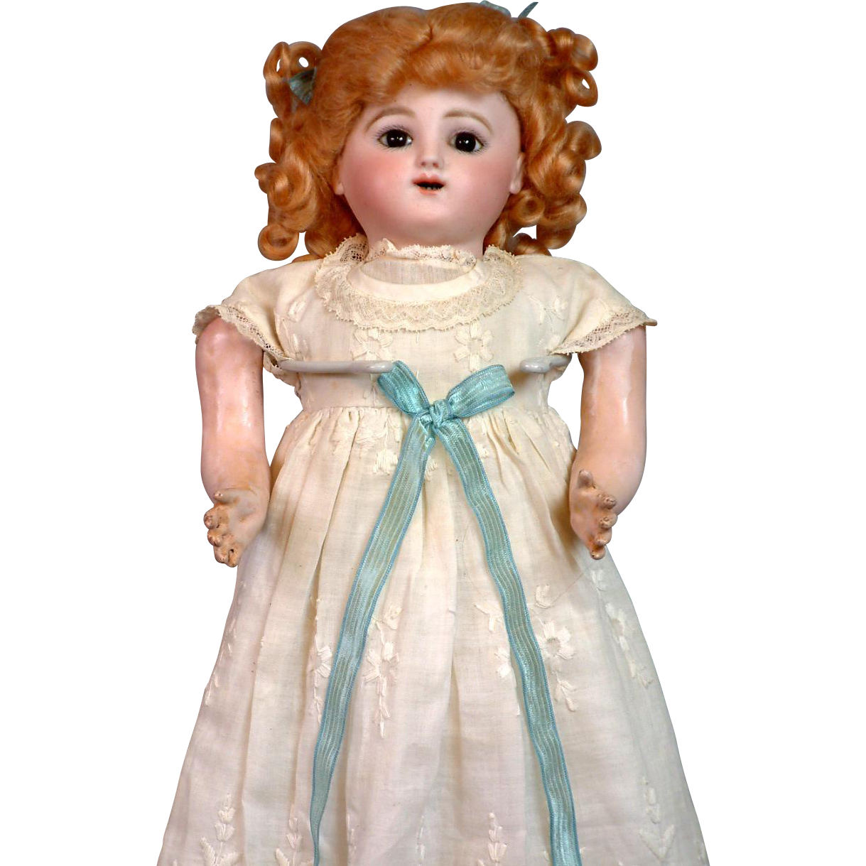 "Extremely Special 17.5"" Jules Nicholas Steiner's 'Bebe Gigoteur' Mechanical Baby Doll C. 1885"