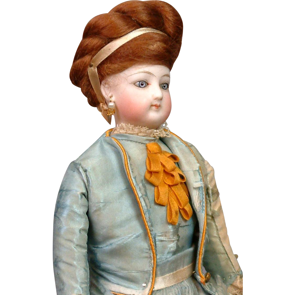 "Petite 11"" All Original Jumeau Poupee Peau Fashion Doll in Original Dress"