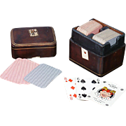 Beautiful Antique Italian Box Set of Double Deck Playing Cards -- An Exquisite Fashion Doll Accessory!