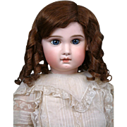 Enchanting French Antique Human Hair Wig For Size 13 Bebe