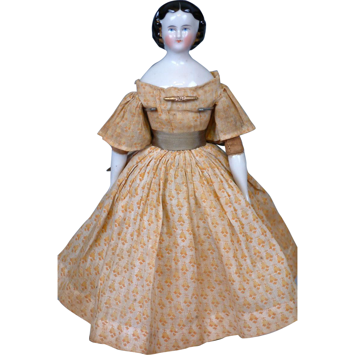 """Outstanding Petite China Lady 11"""" Fabulous Original Costume With Snood~ Mint Condition"""
