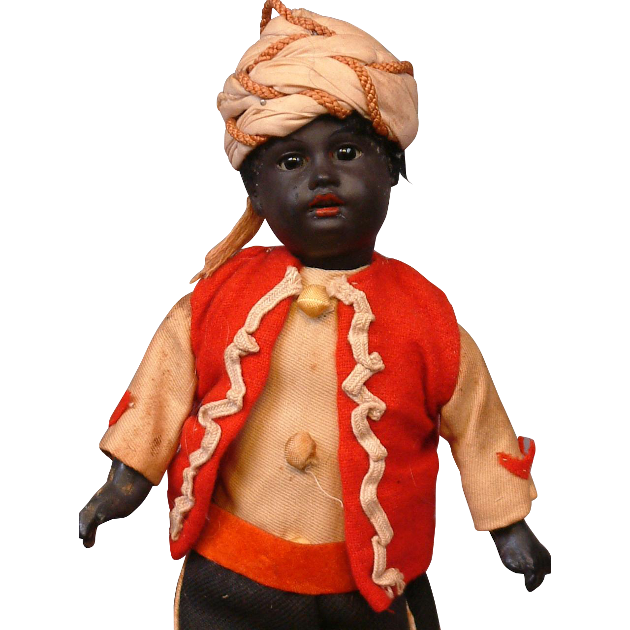 Delightful All Original Gebruder Kuhnlenz 34-20 Dressed As Moroccan Boy