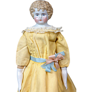 """Exquisite 21.5"""" Antique China Lady With Very Deep Sculpting"""