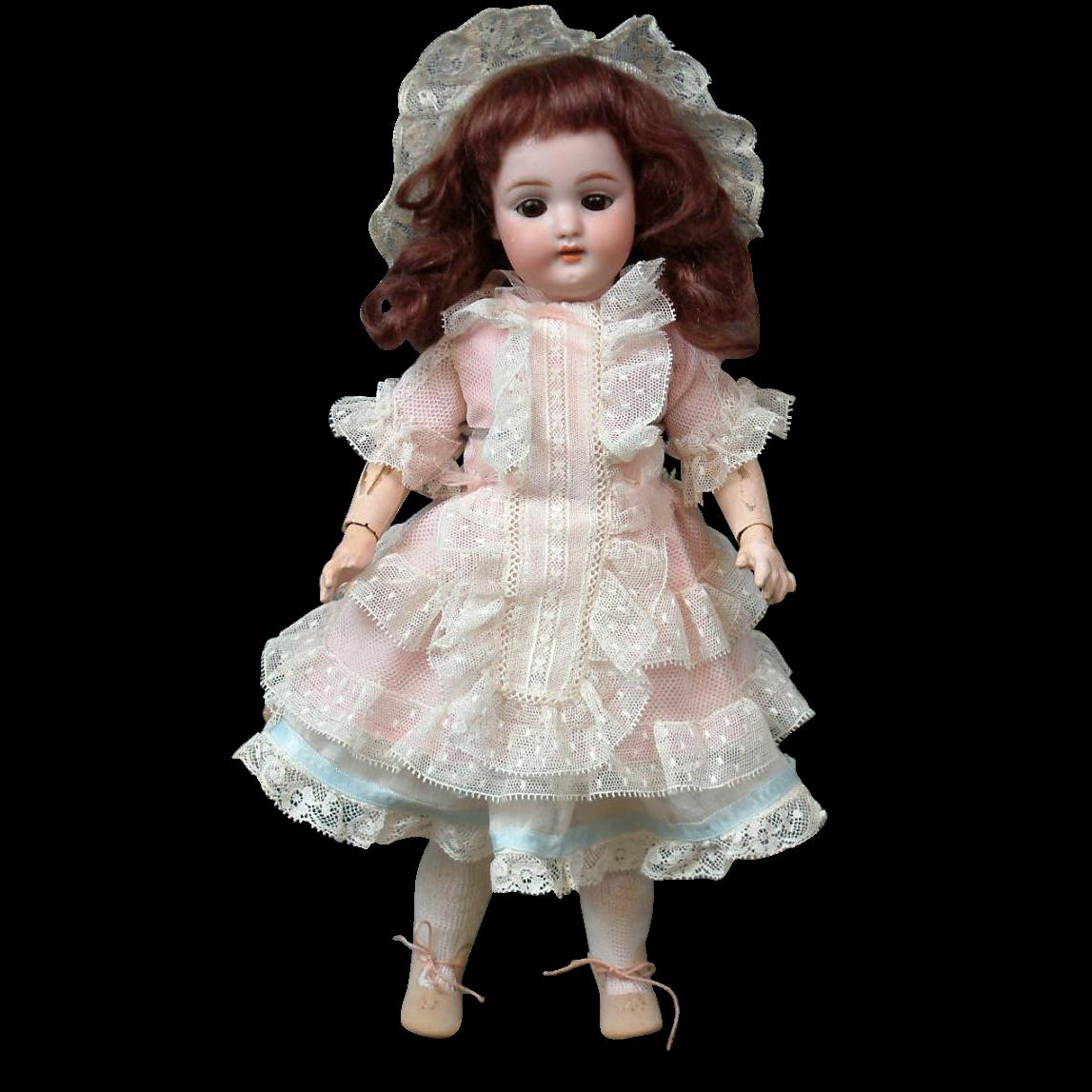"Sweet Petite 12"" Simon & Halbig 1079 Antique Bisque Doll"