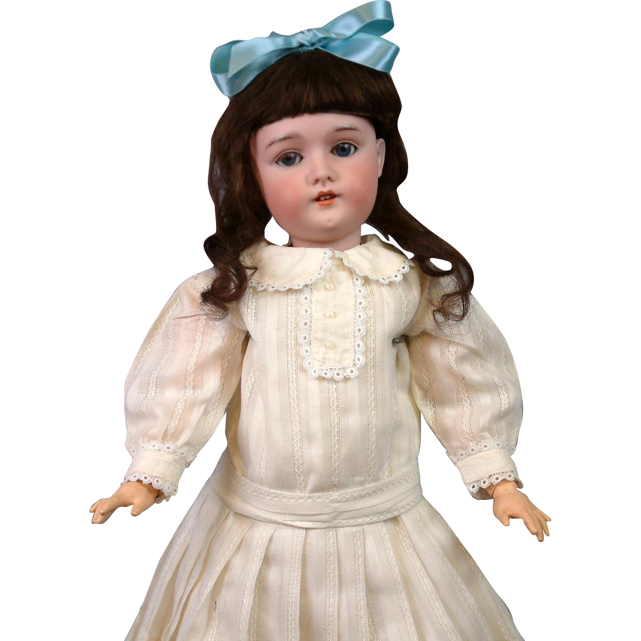 "Lovely 21"" Antique German Doll Marked ""Princess"" attb to Armand Marseille"