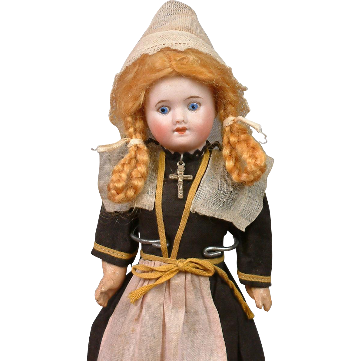 "Superb 9"" SFBJ 60 French ""Normandy Girl"" All Original Costume with Painted Eyes"