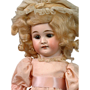"Beautiful Early 14"" Bisque Girl on Early Sonnenberg Belton Body c.1890 with Original Set Eyes"