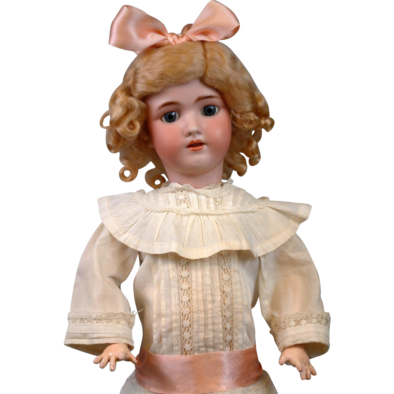 """Beautiful 21"""" Handwerck Halbig with Antique Costume & Fabulous Stamped Body"""
