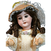 "Presentation-Class 23"" Antique German ""Special"" Bisque Girl in Cabinet-Ready Ensemble"