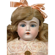 "Early 19"" Kestner Shoulderhead Antique Doll with Especially Pale Bisque and Handwritten Provenance"