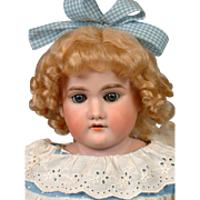 "Armand Marseille ""Floradora"" 22.5"" Antique Doll w/Blue Eyes and Kidskin Body"