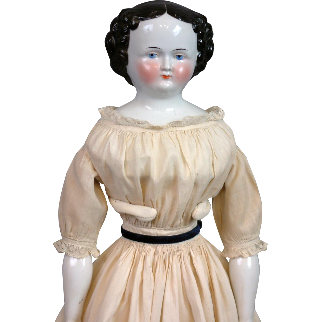 "23.5"" Civil War Era China Lady All Original Body and Costume"