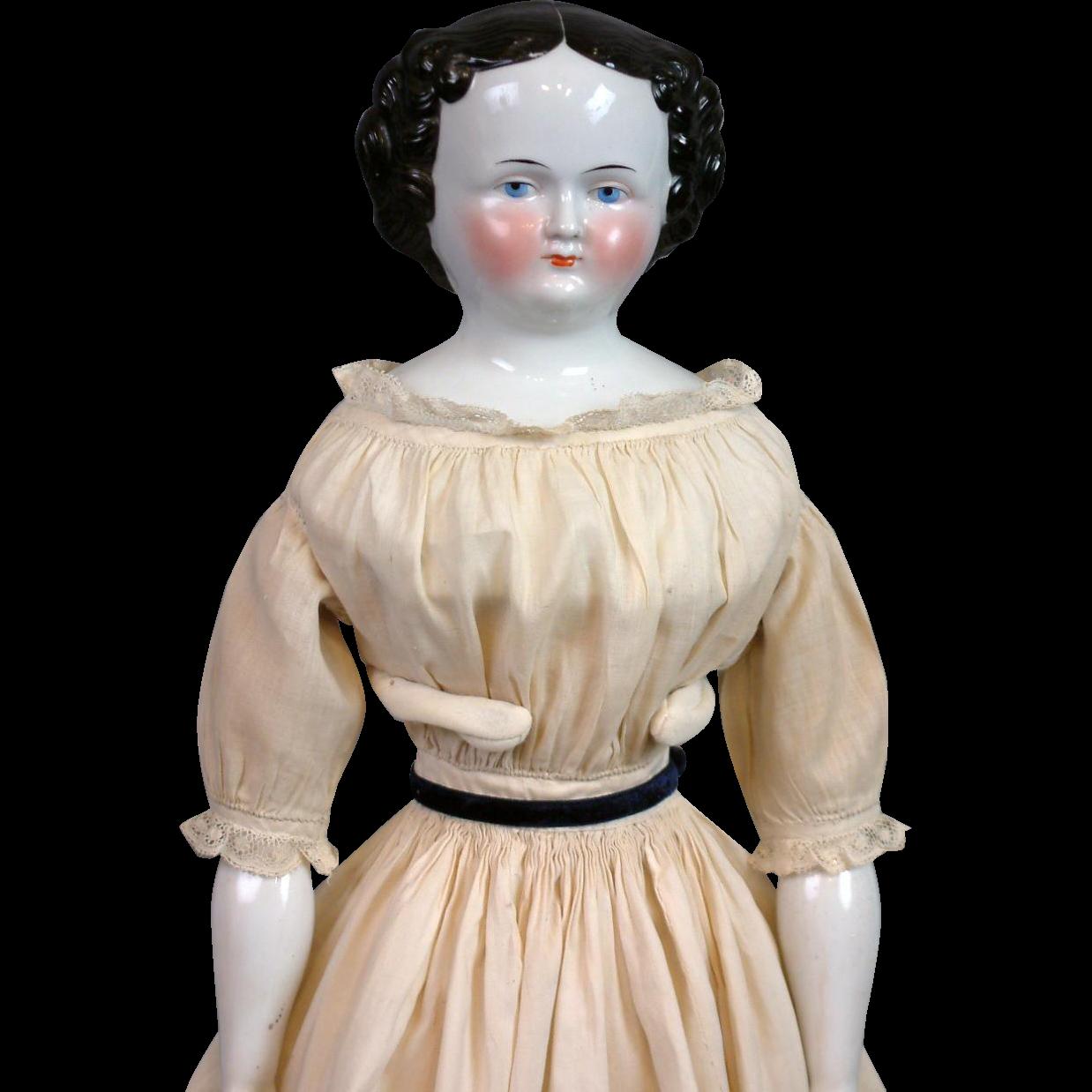 "23.5"" Civil War Era China Lady All Original Body and Costume Thanks DM"