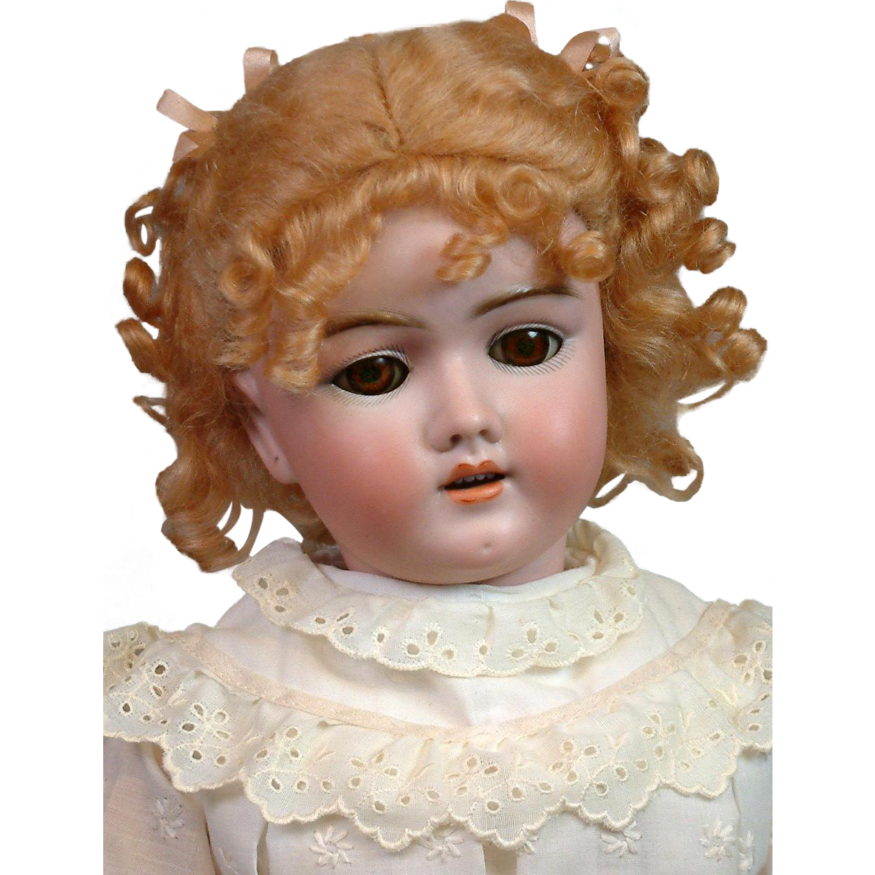 "Darling 24"" Handwerck 69 Antique Bisque Bebe Doll on Original Handwerck Body"