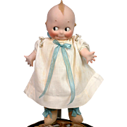 "Extremely Rare 12"" Kewpie Model 297 With Cloth Body Bisque Hands Original Dress PERFECT BISQUE"