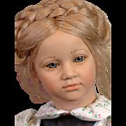 """Annette Himstedt Barefoot Children """"Ellen"""" 27"""" Vintage Vinyl Doll 1985"""