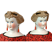 """17"""" Princess Dagmar In Mint Condition With Original Coral Earrings C. 1860 Antique Doll!"""