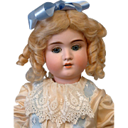 """Darling 20"""" Schoneau Hoffmeister 1906 Blue Eyes with Real Lashes and Cute Presentation!"""