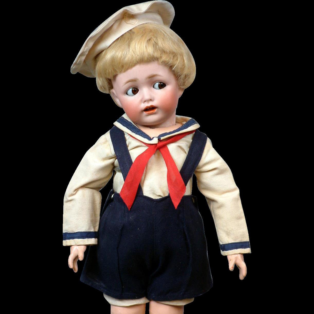 """15"""" All Antique Kestner 257 Character Flirty Toddler"""
