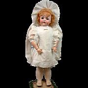 Wonderful Antique Dress & Bonnet for Big Antique Bisque Doll!