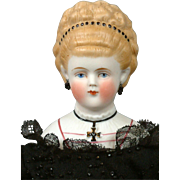 """RARE Size 12"""" Cross Parian Lady Empress Augusta with Elegant Updo"""