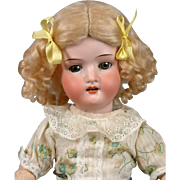 """Lovely Heubach Koppelsdorf 250 14.5"""" Antique Bisque Doll with Spring Costume"""