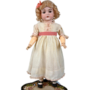 "Lovely 22"" Kestner 167 Antique Bisque Doll with Cute Classic Presentation"