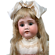 "Schoneau and Hoffmeister 1906 Antique Bisque Doll 28"" in Lovely Costume!"