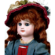 "18"" Rare Rabery & Delphieu French Bebe Antique Doll Circa 1885 in Wonderful Antique Costume"