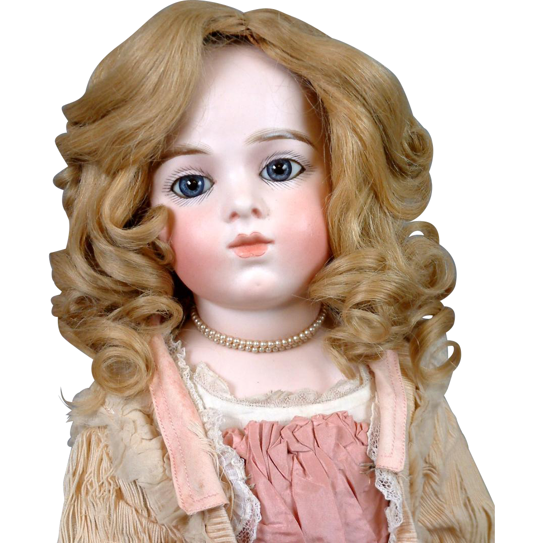 Wonderful Golden Blond Hand Tied French Human Hair Wig C. 1885