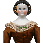 "Superb 15"" Mary Todd Lincoln China c.1855 in Silk Ballgown"