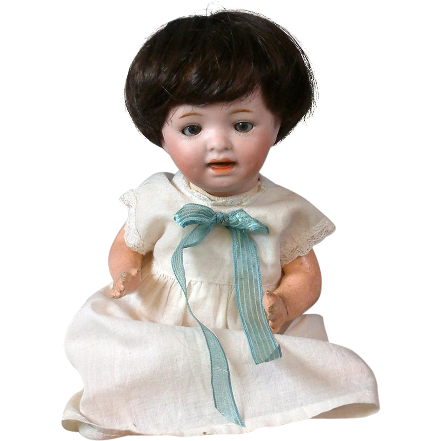 "Adorable Petite 8"" Morimura Brothers Antique Baby Doll"