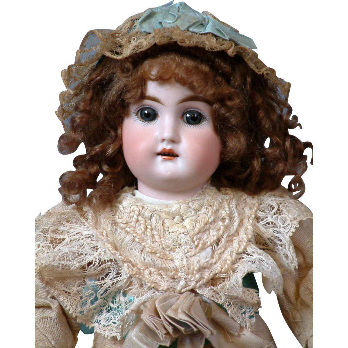 "14"" Mystery Kestner Antique Doll in antique Costume"