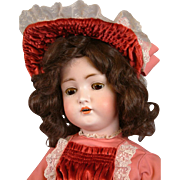 """Hertel & Schwabb 136 29.5"""" Antique Bisque Girl w/Presentation Costume"""