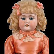 """NEAR MINT 22"""" Strobel & Wilken Antique Doll on Outstanding Jubilee Kid Body!"""