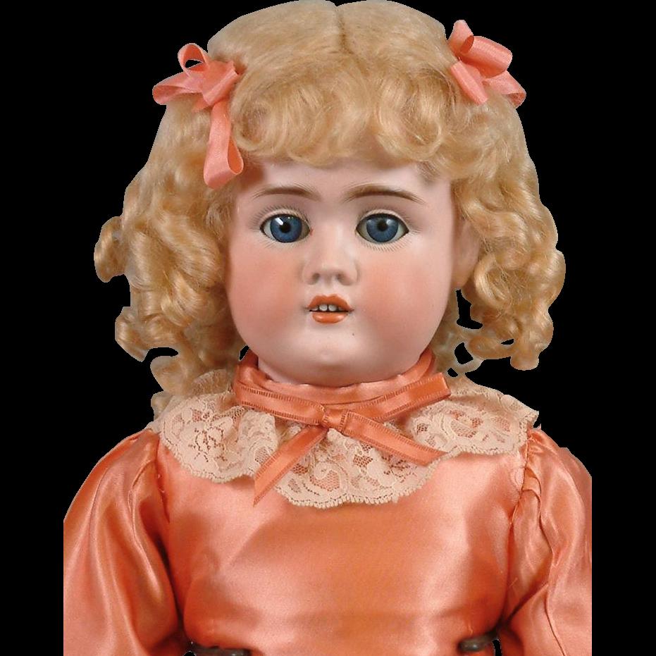 """Delightful 22"""" Strobel & Wilken Antique Doll on Outstanding Jubilee Kid Body!"""