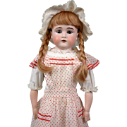 "Fabulous Kestner 166 23.5"" Antique Girl on Fabulous Kid Body with Bisque Hands"