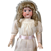 "HUGE 32"" Armand Marseille 390n. Antique Doll in Crisp Whites"