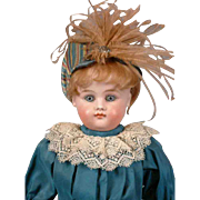 "Gorgeous Pristine Closed Mouth Kestner 17"" Antique Doll w/Beautiful Presentation"