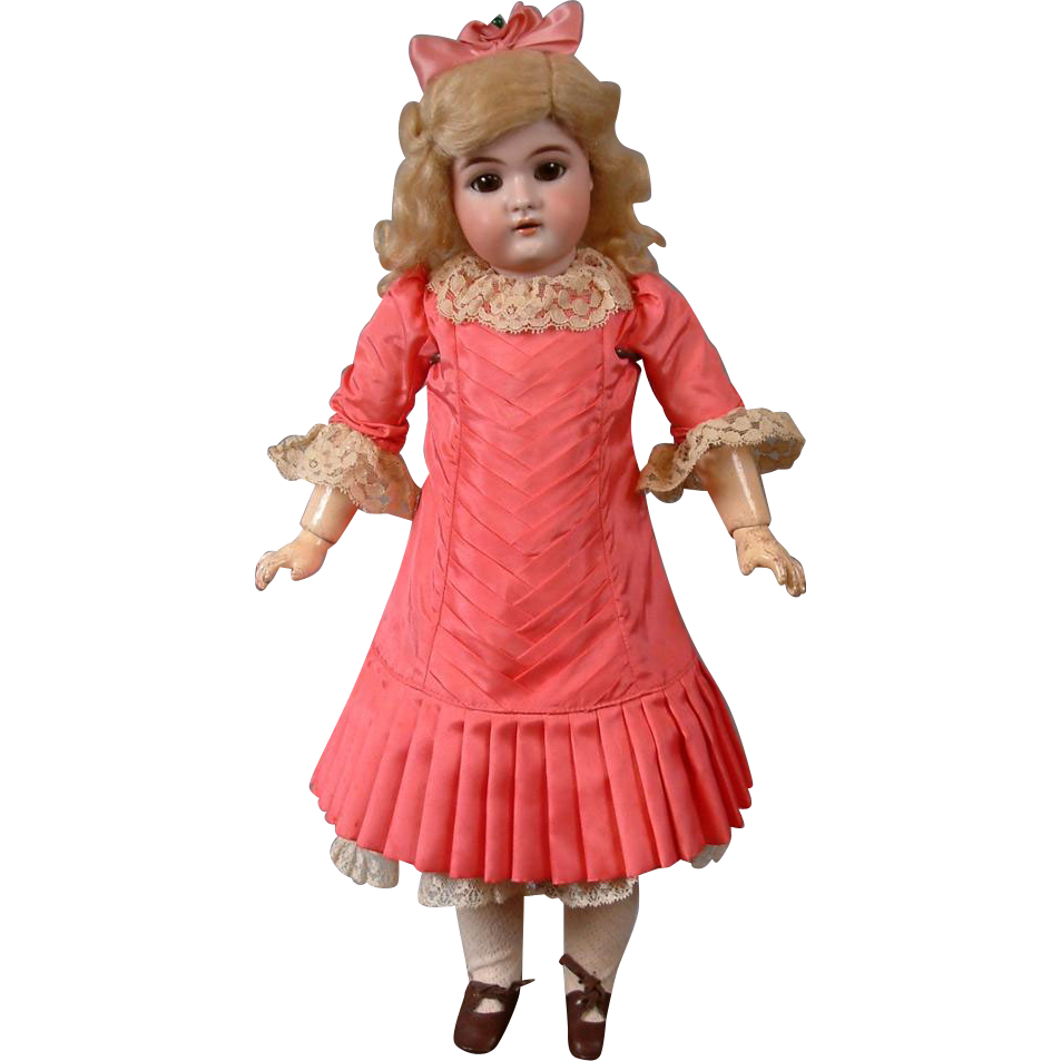 "Pale 18"" Handwerck 79 Antique Bisque Doll on Exquisite Body"