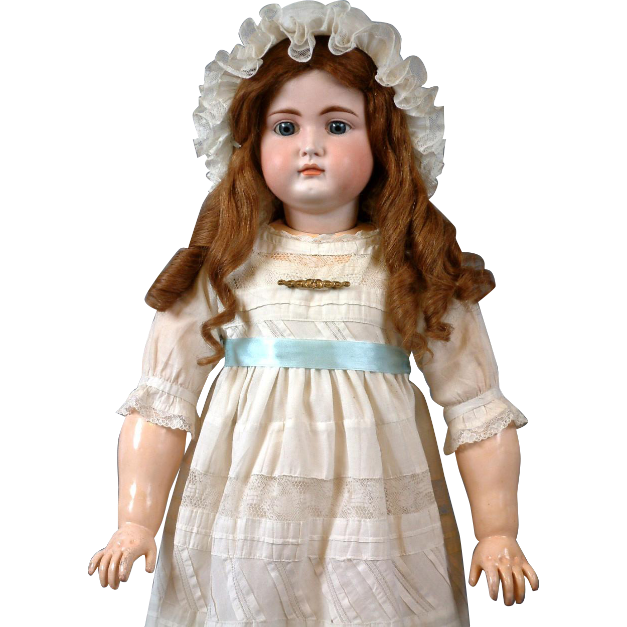 "Stunning 31"" Rare to Find Kammer & Reinhardt 192 All Antique Doll with Closed mouth & Original Early Body"