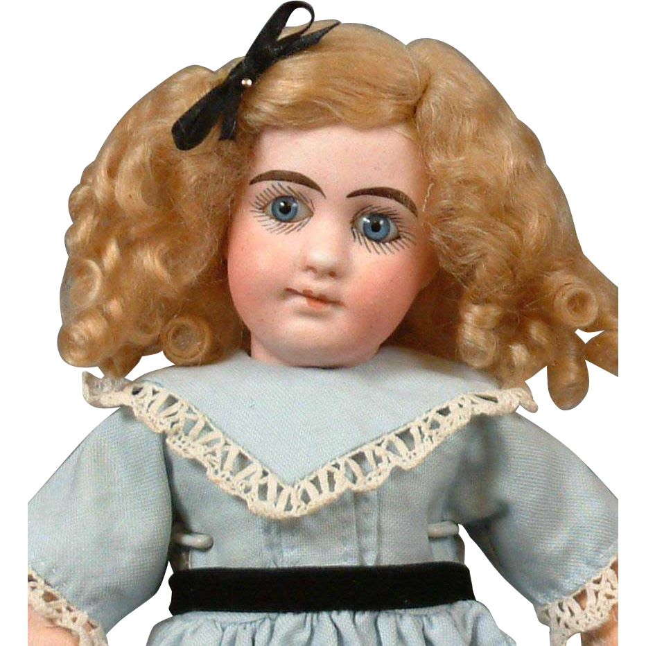 "Darling 12"" French  Mystery Closed-Mouth Bebe Antique Doll circa 1900--So Cute"