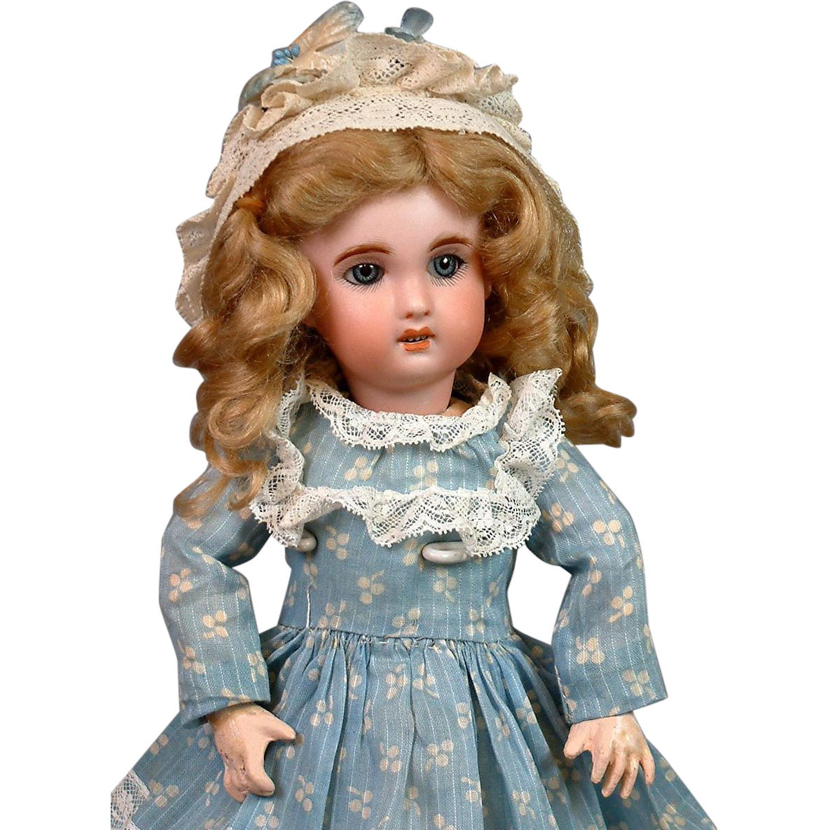 "11""  Jumeau 1907 Size 2 Bebe with Original Blue Sleep Eyes--Adorable"