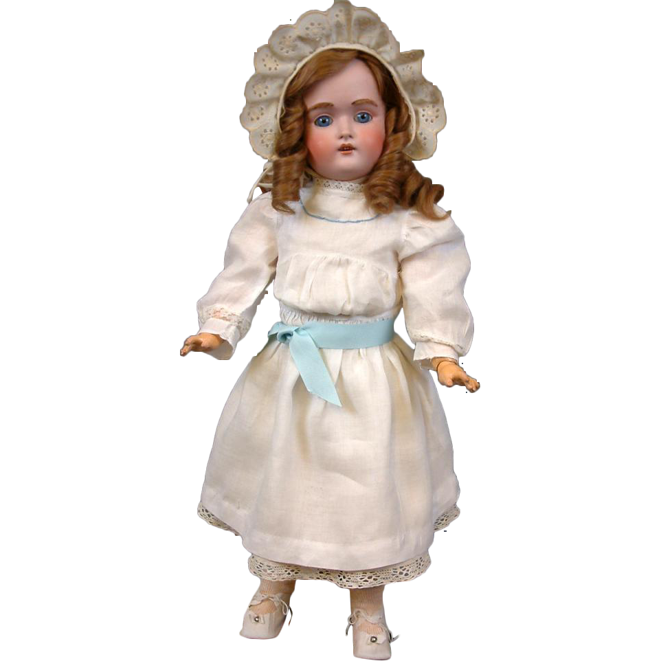 "Exquisite Kestner 197 Antique Bisque Doll 22"" Perfect Marked Body & Square Cut Teeth"