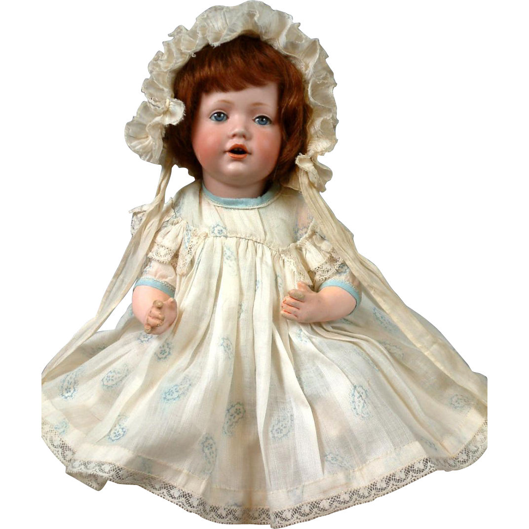 "10.5"" JDK Hilda Baby All Antique circa 1914-The Smallest, Cutest Size"