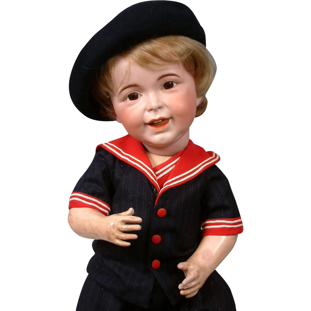 "23"" Rare Chunky SFBJ 236 Laughing Jumeau French Baby Boy  (head circ. Is 16.5"")"