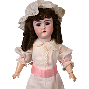 "Handwerck Halbig 109 22"" Antique Bisque Girl Doll w/Glazed Neck"