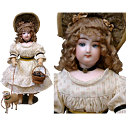 "Rare Gaultier Bebe on Wire & Wood Gesland Body As Shepherdess In the Smallest 13"" Size!"