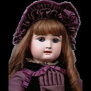 "25"" Rare Rabery & Delphieu French Bebe Antique Doll Circa 1885 in Wonderful Original Antique Costume"